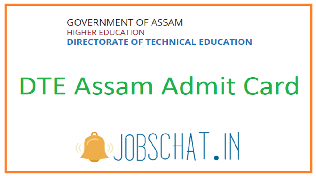DTE Assam Admit Card