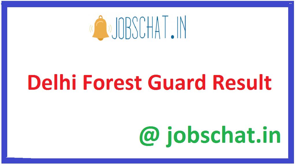 Delhi Forest Guard Result