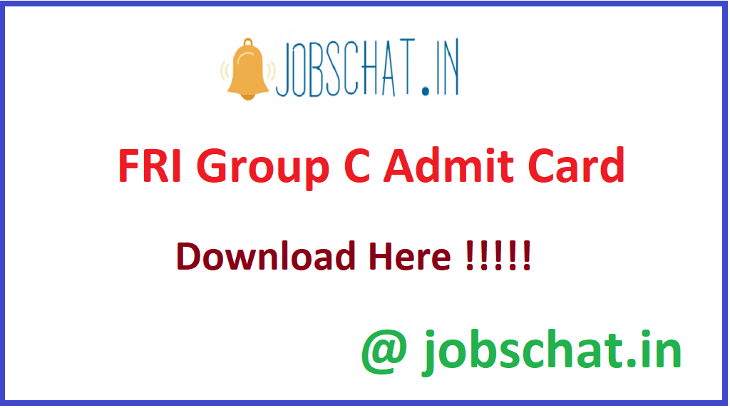 FRI Group C Admit Card