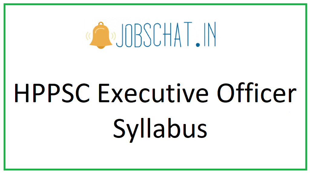 HPPSC Executive Officer Syllabus