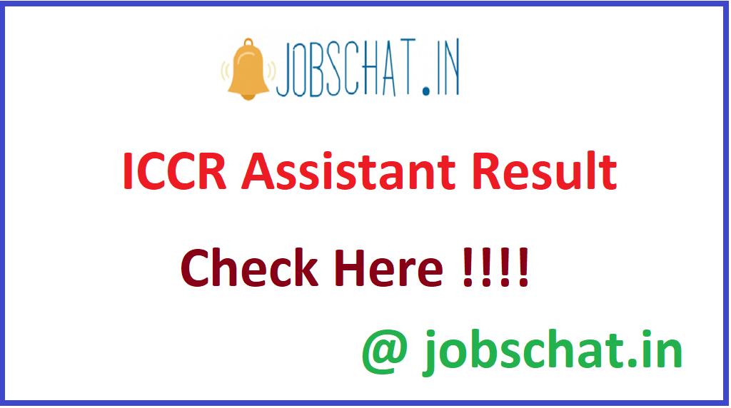 ICCR Assistant Result
