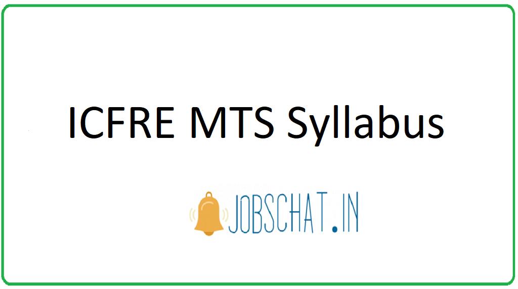 ICFRE MTS Syllabus