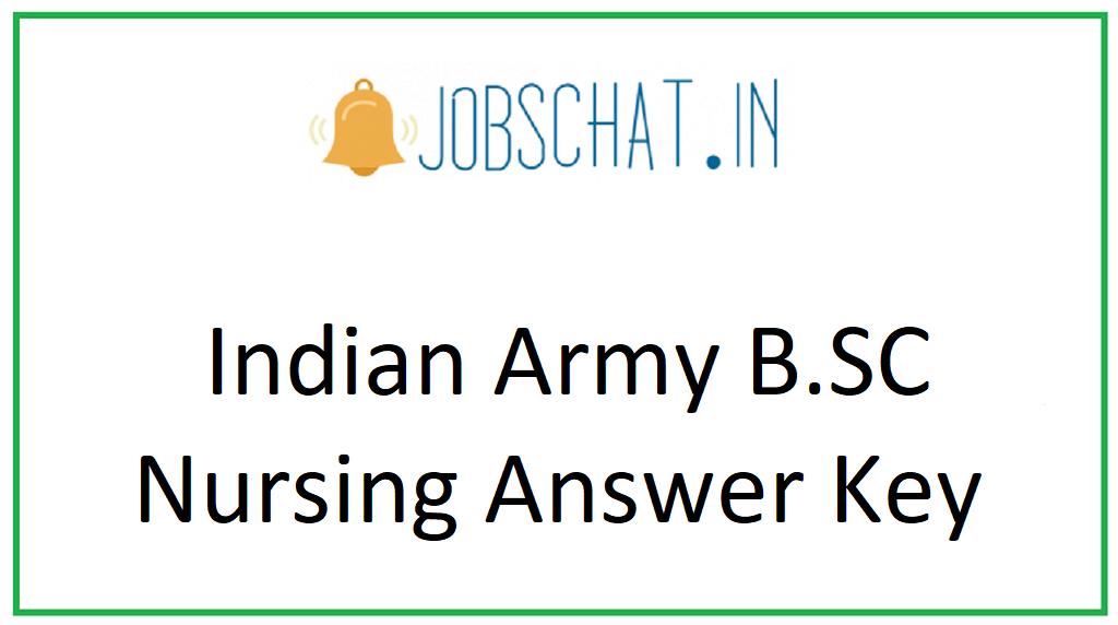 Indian Army B.SC Nursing Answer Key