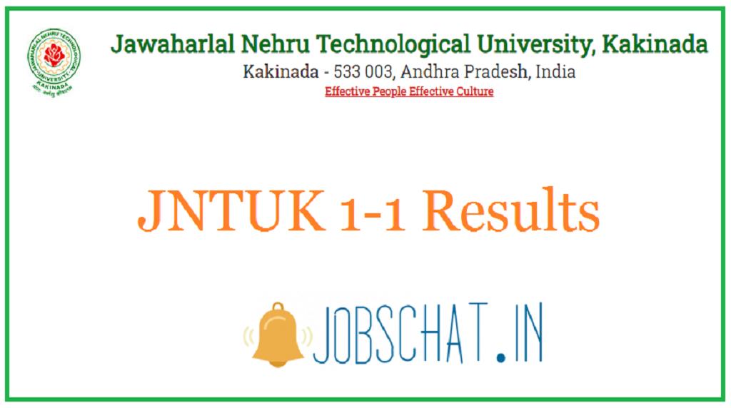 JNTUK 1-1 Results