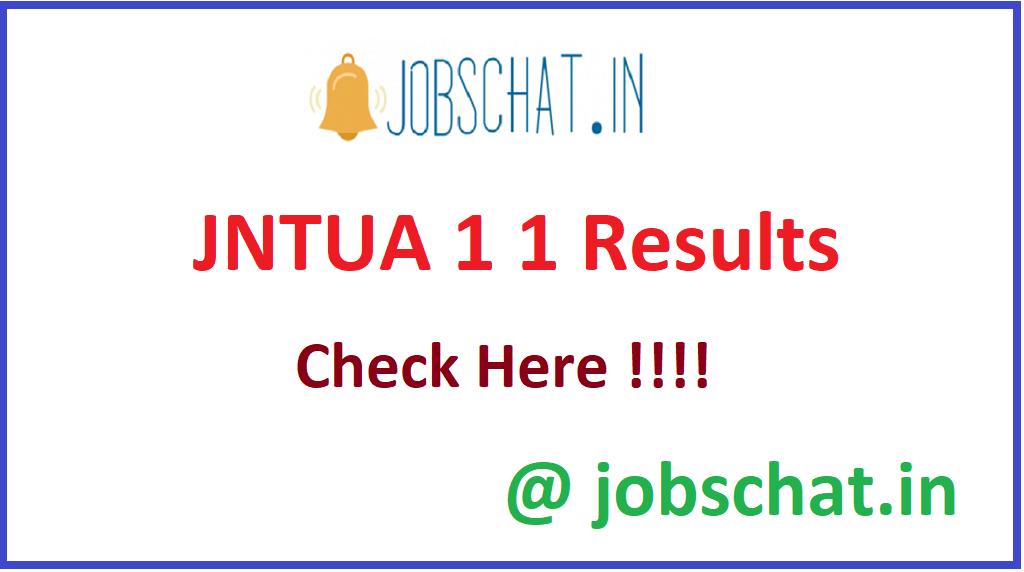 JNTUA 1 1 Results
