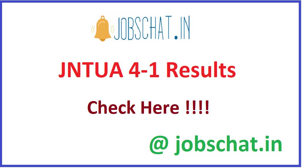 JNTUA 4-1 Results