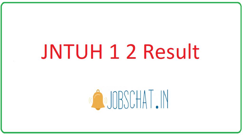 JNTUH 1 2 Result