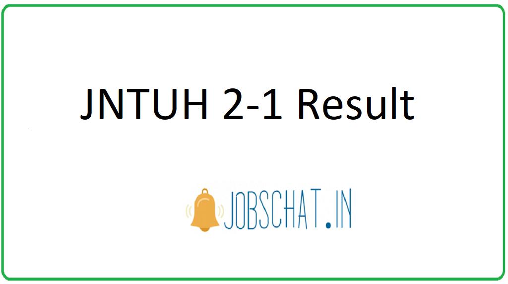 JNTUH B. Tech 2-1 Result