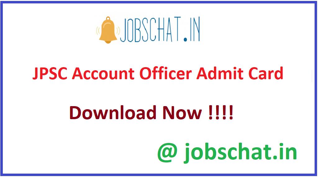 JPSC Account Officer Admit Card