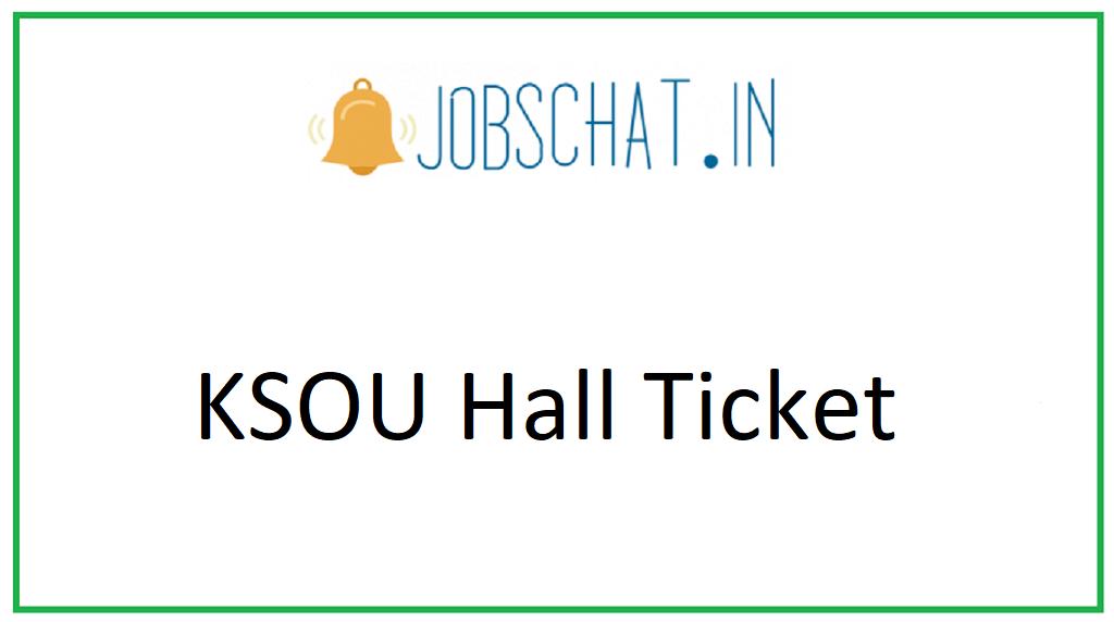 KSOU Hall Ticket