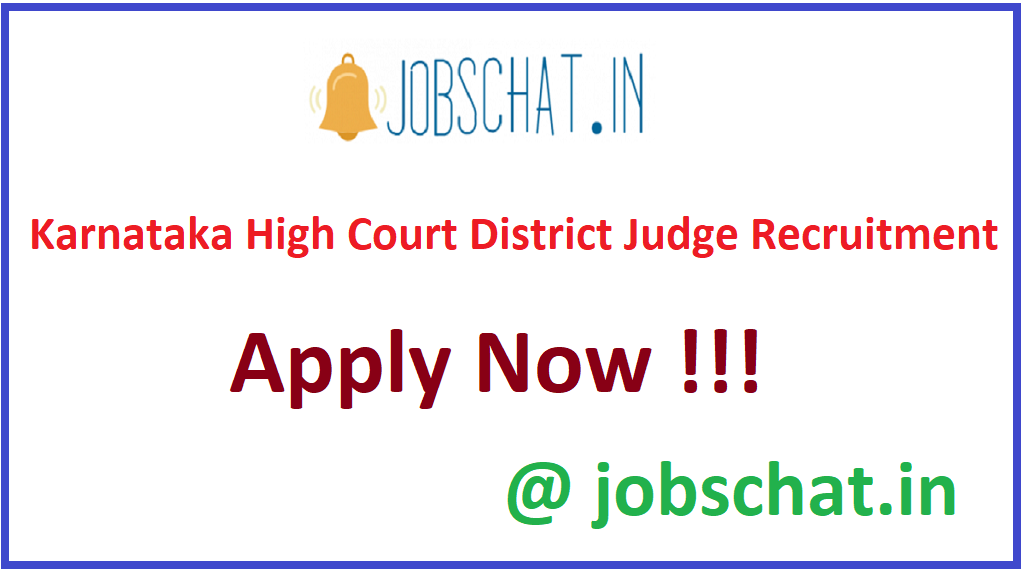 Karnataka High Court District Judge Recruitment