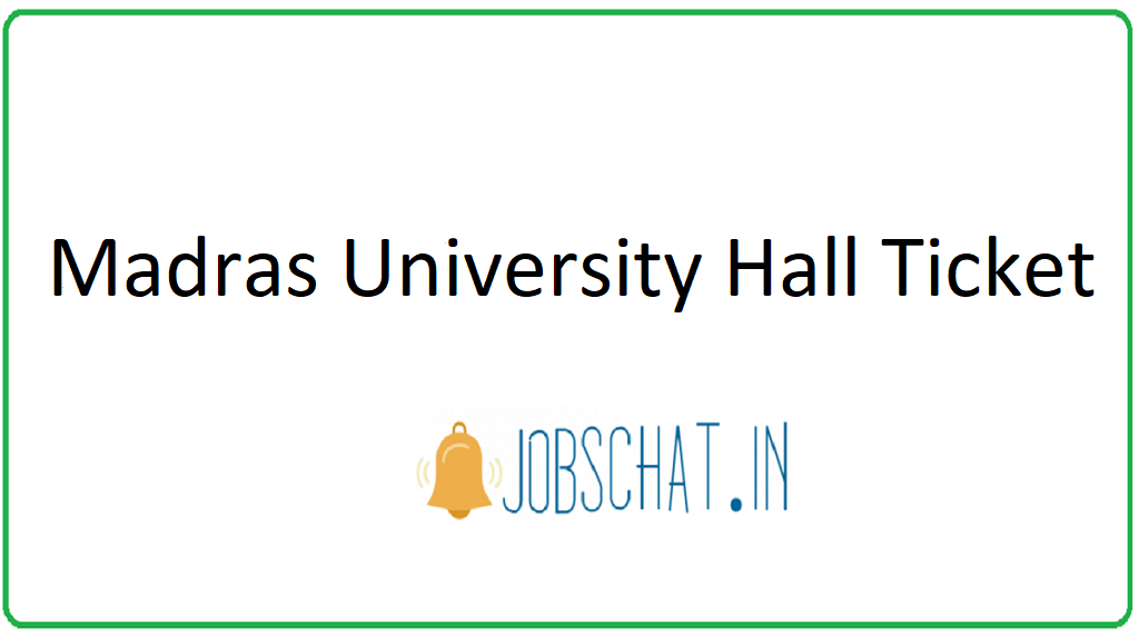 Madras University Hall Ticket