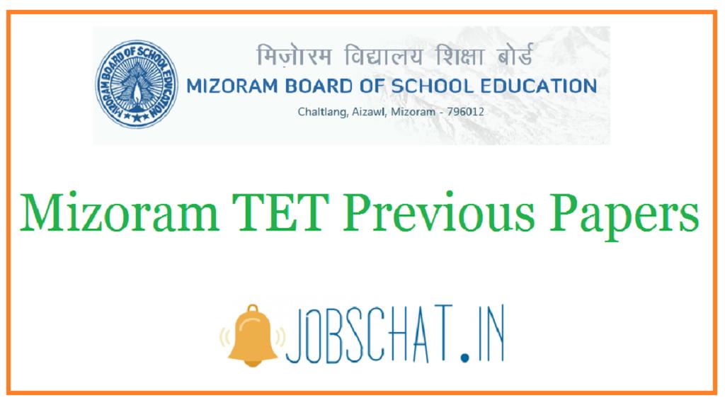Mizoram TET Previous Papers