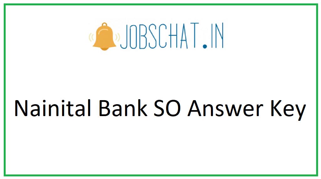 Nainital Bank SO Answer Key