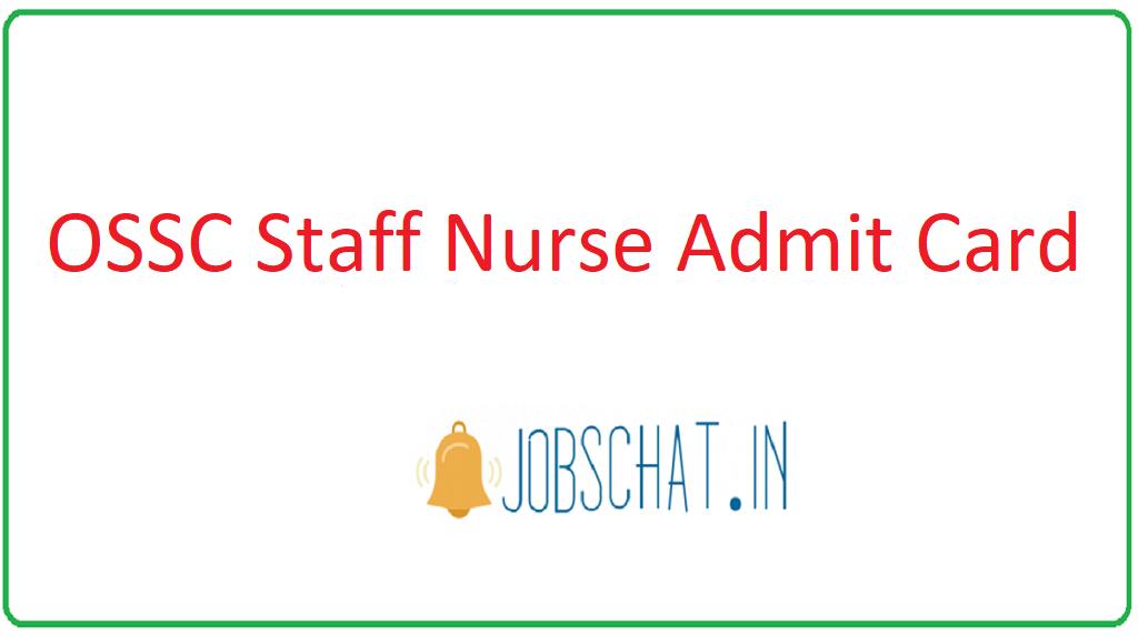OSSC Staff Nurse Admit Card