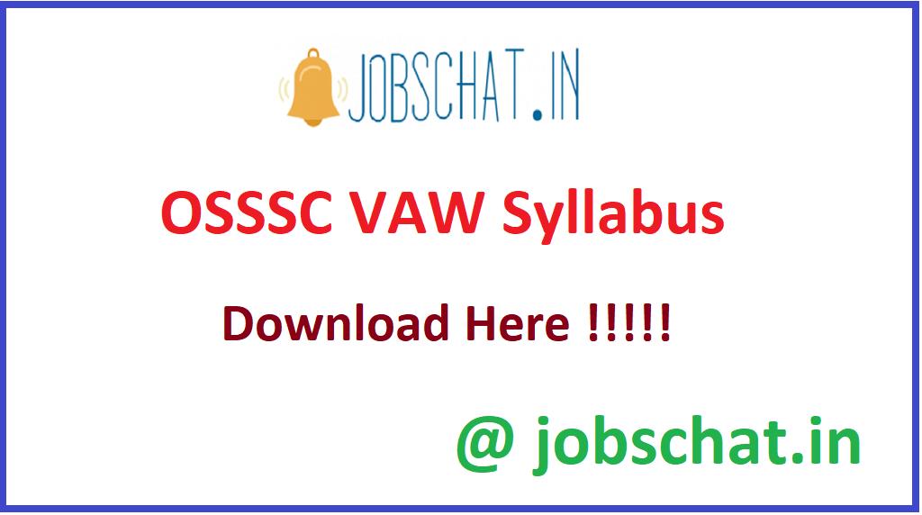 OSSSC VAW Syllabus