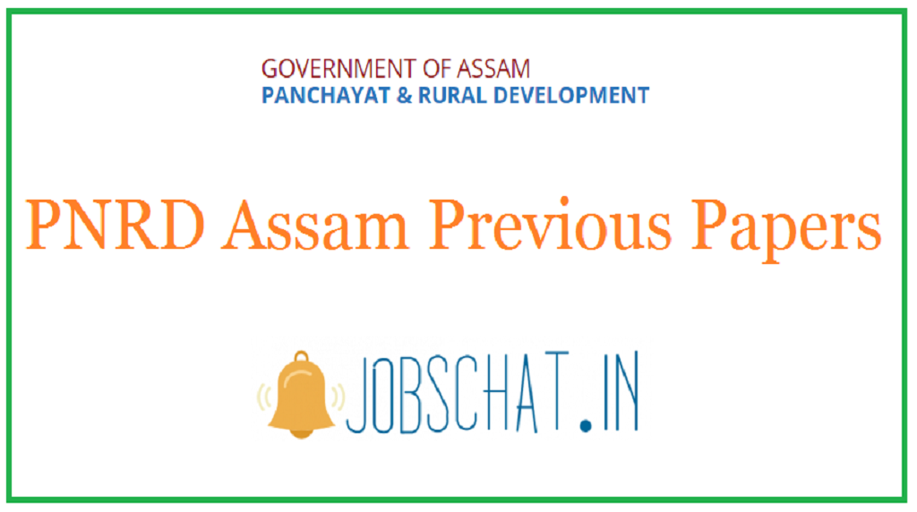 PNRD Assam Previous Papers