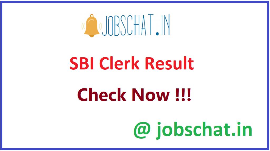 SBI Clerk Result