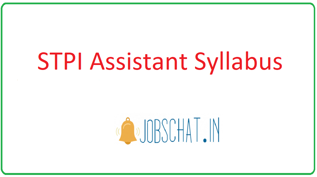 STPI Assistant Syllabus