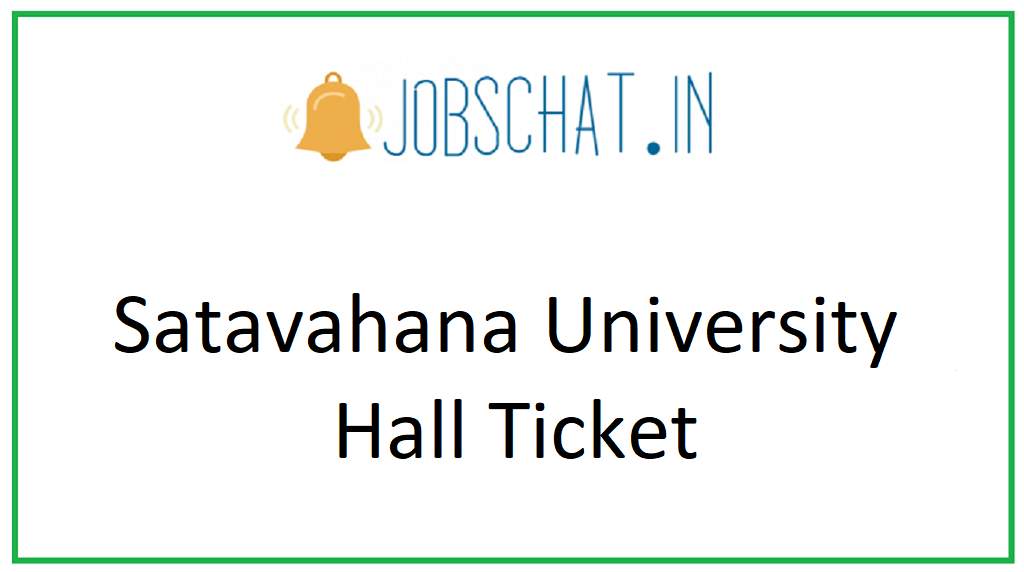Satavahana University Hall Ticket