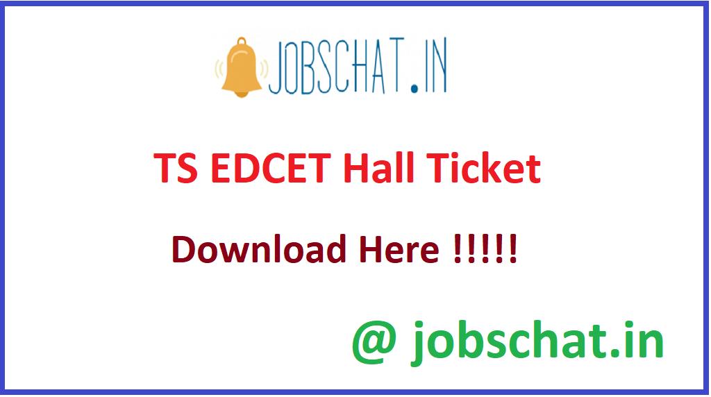 TS EDCET Hall Ticket