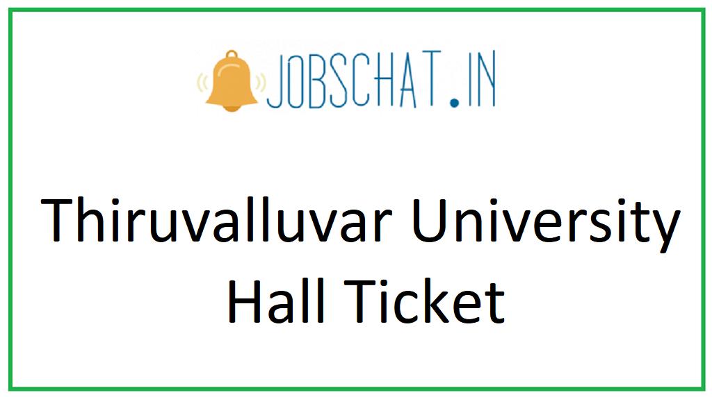 Thiruvalluvar University Hall Ticket