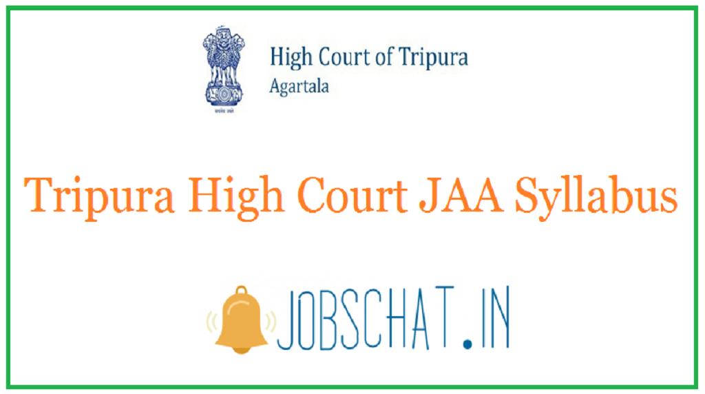 Tripura High Court JAA Syllabus