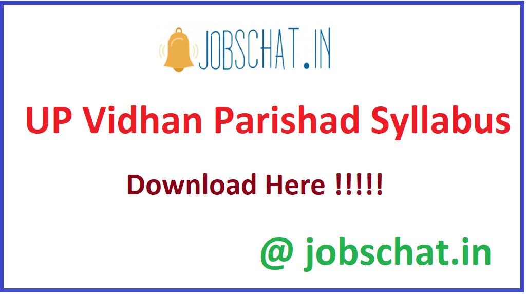 UP Vidhan Parishad Syllabus