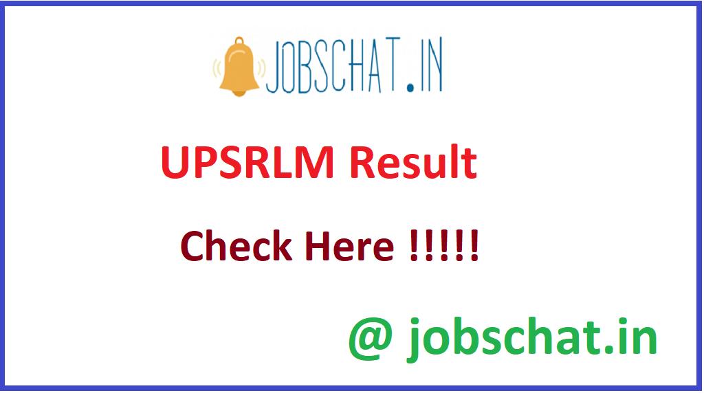 UPSRLM Result