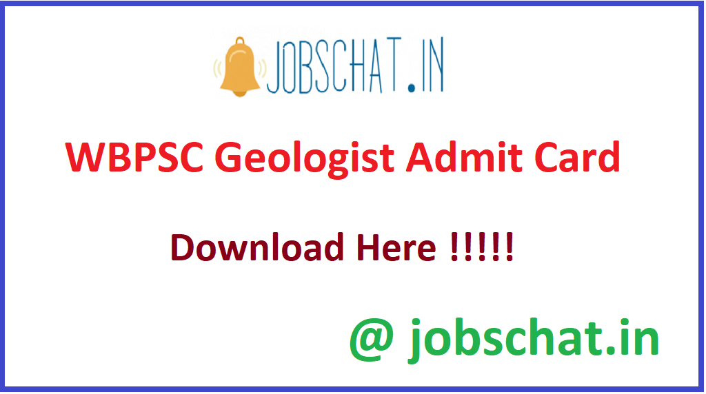 WBPSC Geologist Admit Card