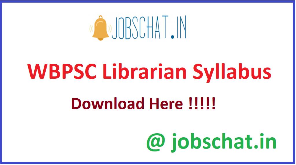 WBPSC Librarian Syllabus