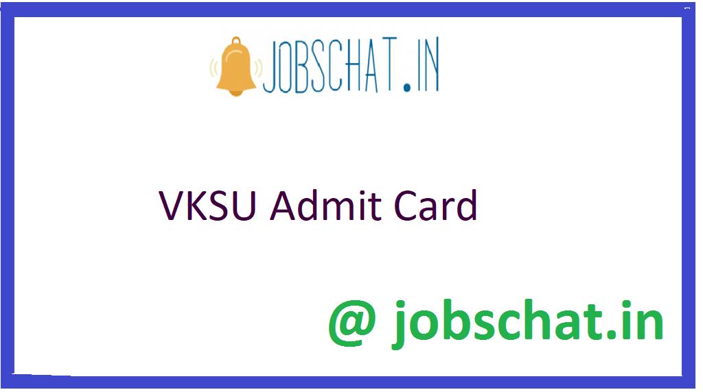 VKSU Admit Card