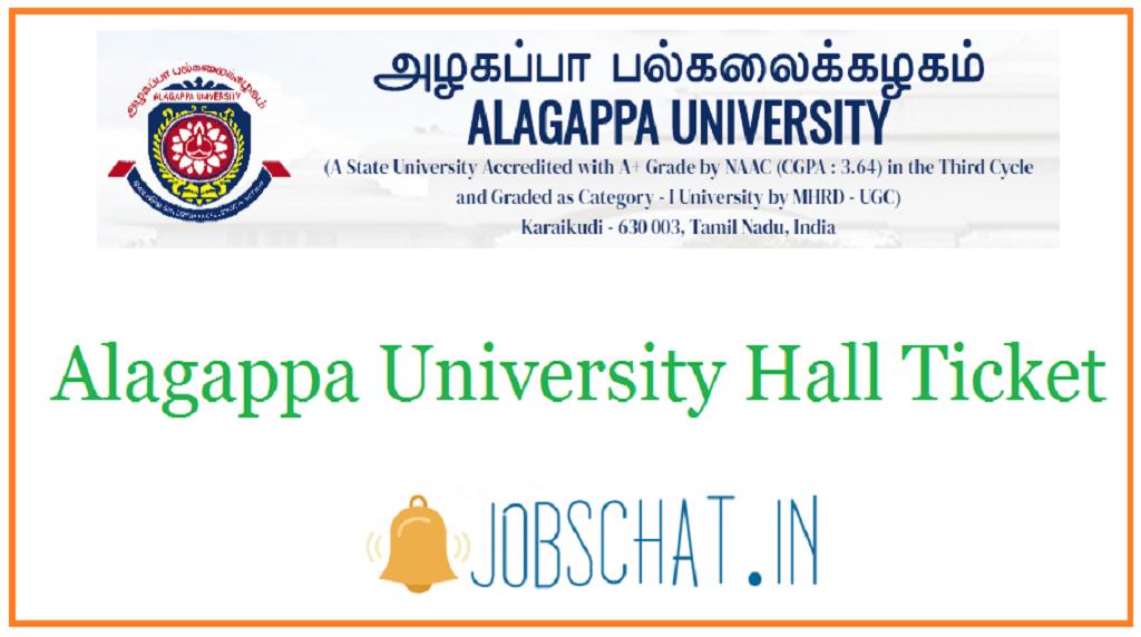 Alagappa University Hall Ticket