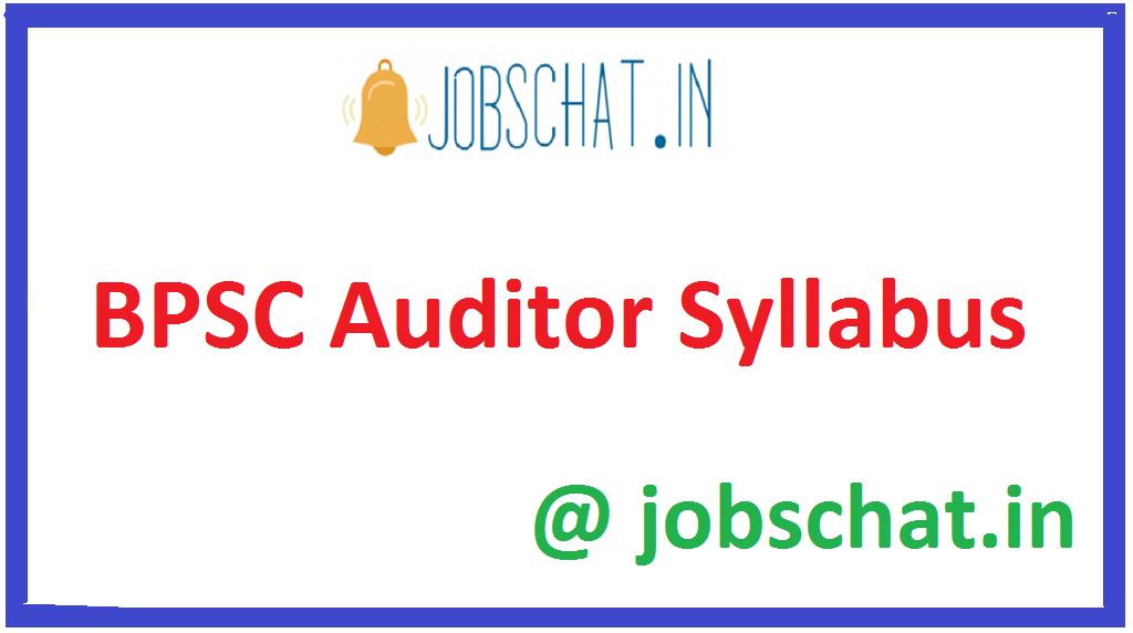 BPSC Auditor Syllabus