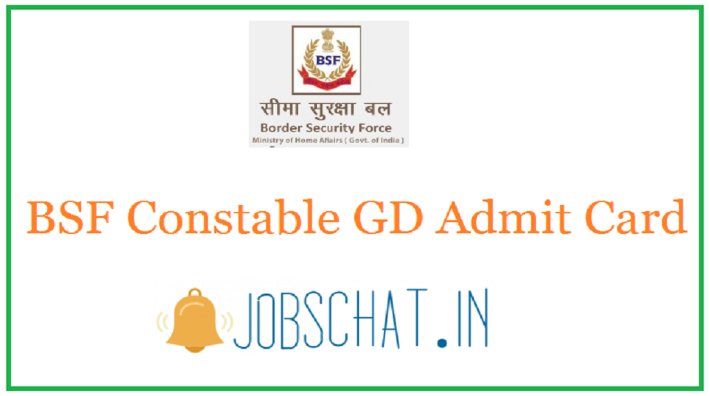 BSF Constable GD Admit Card