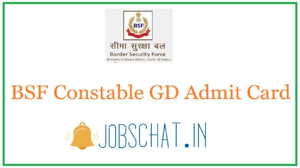 BSF Constable GD Admit Card