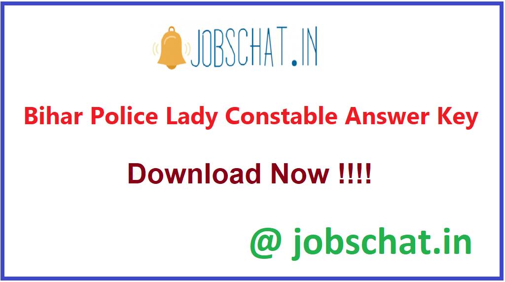 Bihar Police Lady Constable Answer Key