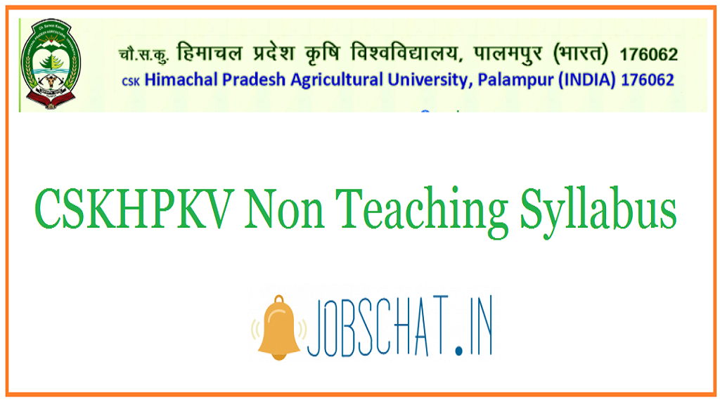 CSKHPKV Non Teaching Syllabus