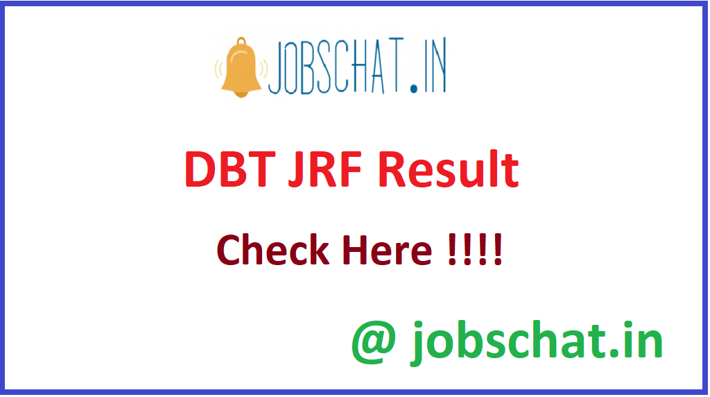 DBT JRF Result