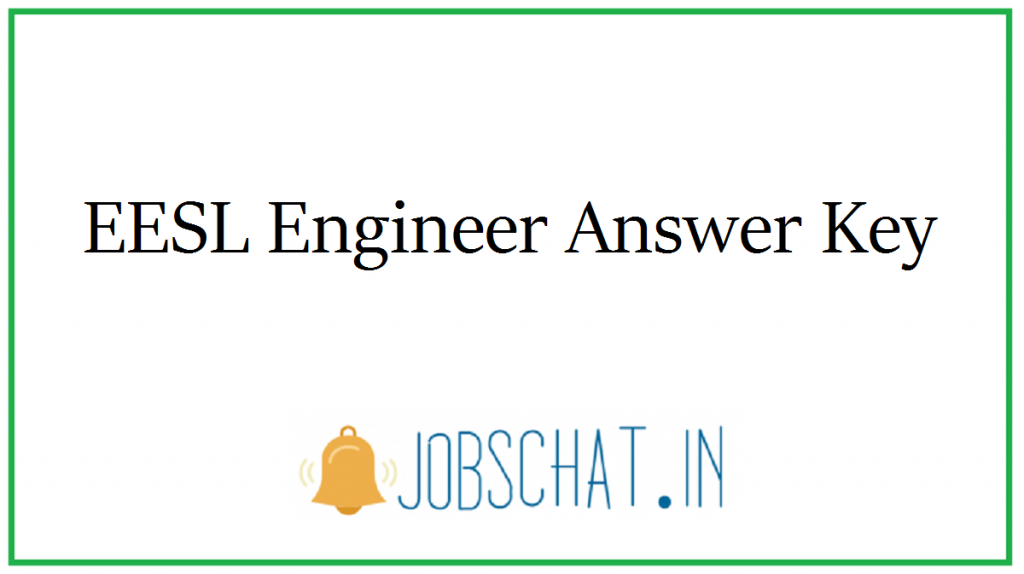 EESL Engineer Answer Key