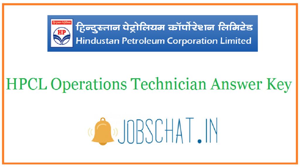 HPCL Operations Technician Answer Key