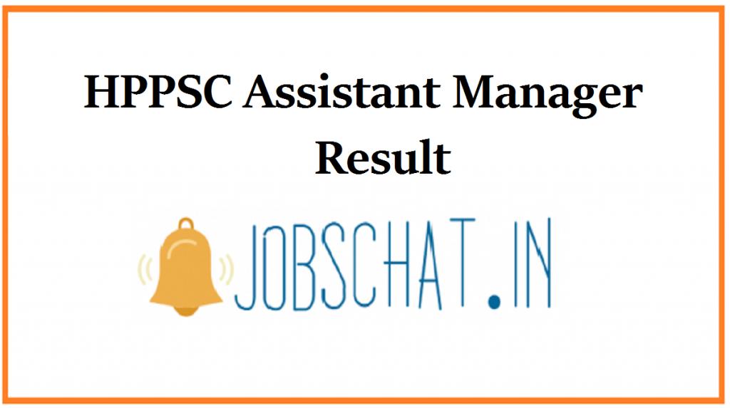 HPPSC Assistant Manager Result