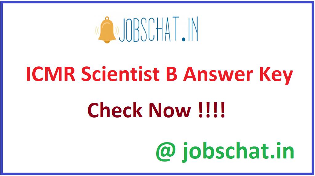 ICMR Scientist B Answer Key