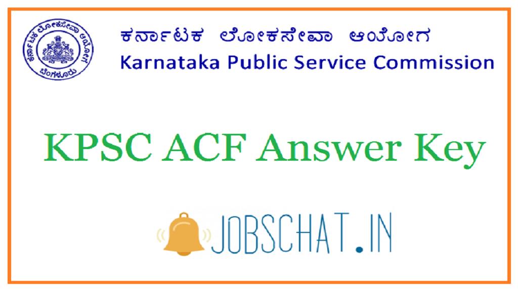 KPSC ACF Answer Key