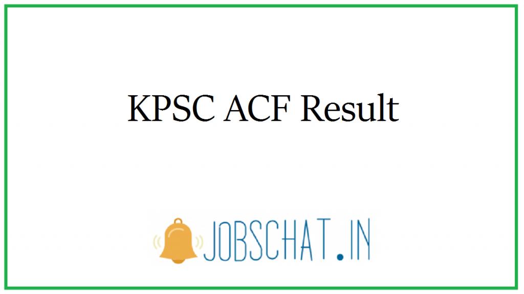 KPSC ACF Result