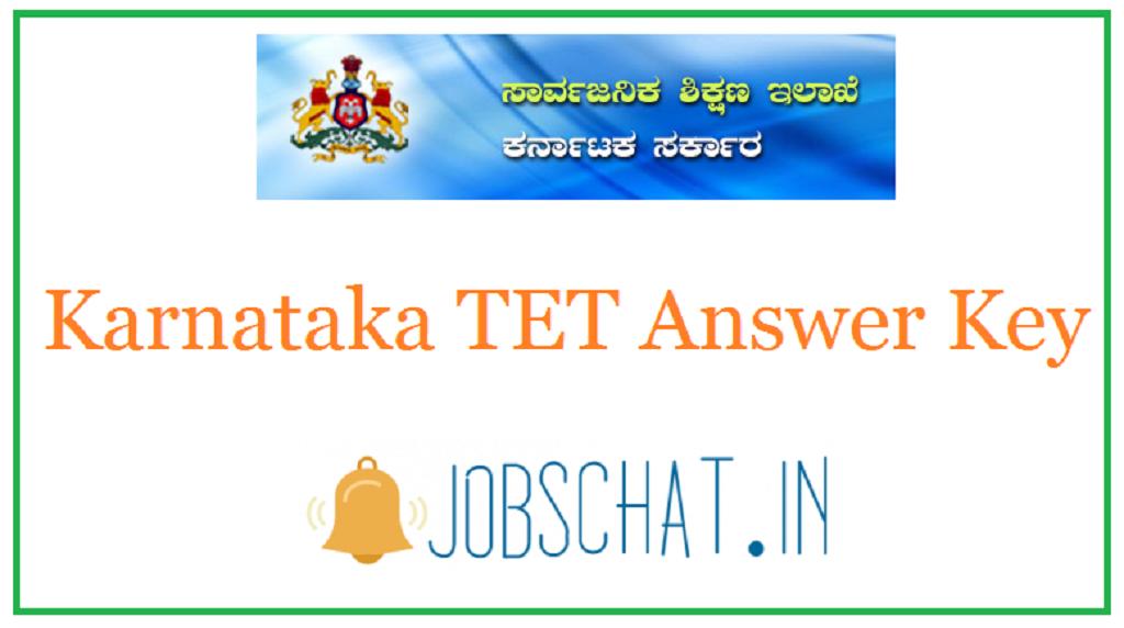 Karnataka TET Answer Key