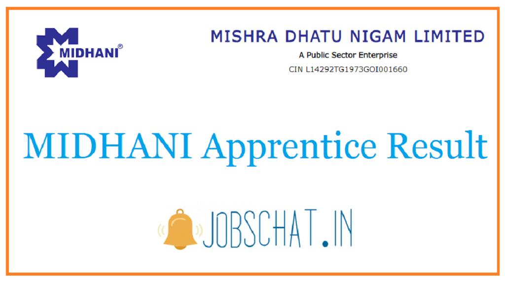 MIDHANI Apprentice Result