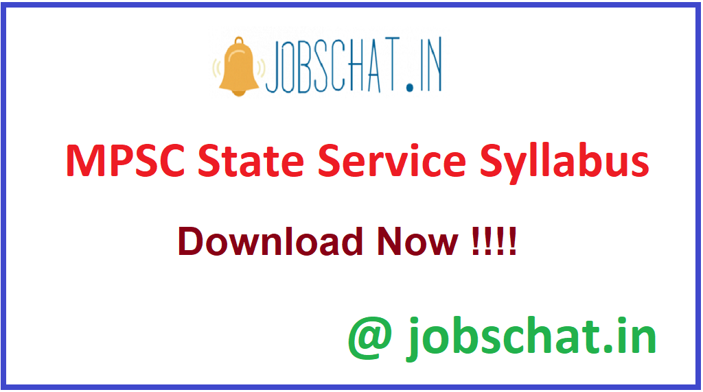 MPSC State Service Syllabus