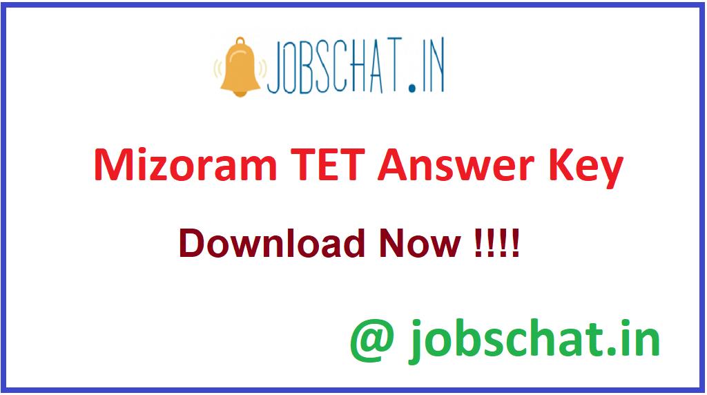 Mizoram TET Answer Key