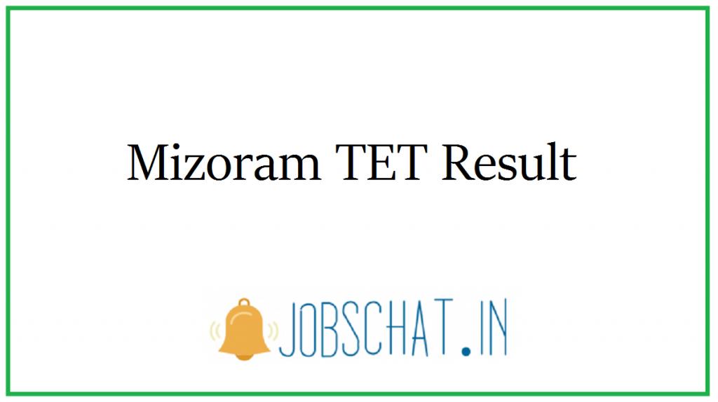 Mizoram TET Result